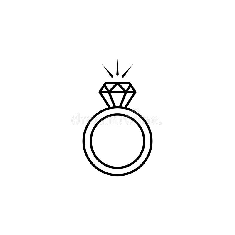 Diamond ring icon. Element of LGBT illustration. Premium quality graphic design icon. Signs and symbols collection icon for websit. Es, web design, mobile app on royalty free illustration