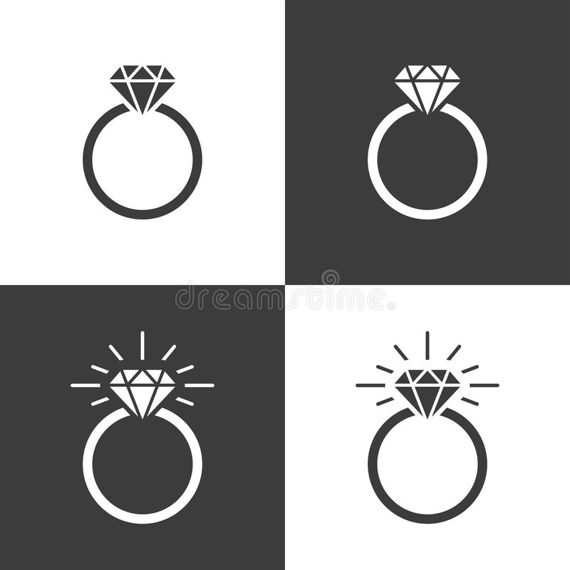 Free Diamond Ring Icon Flat Graphic Design Royalty Free Stock Images - 132654039