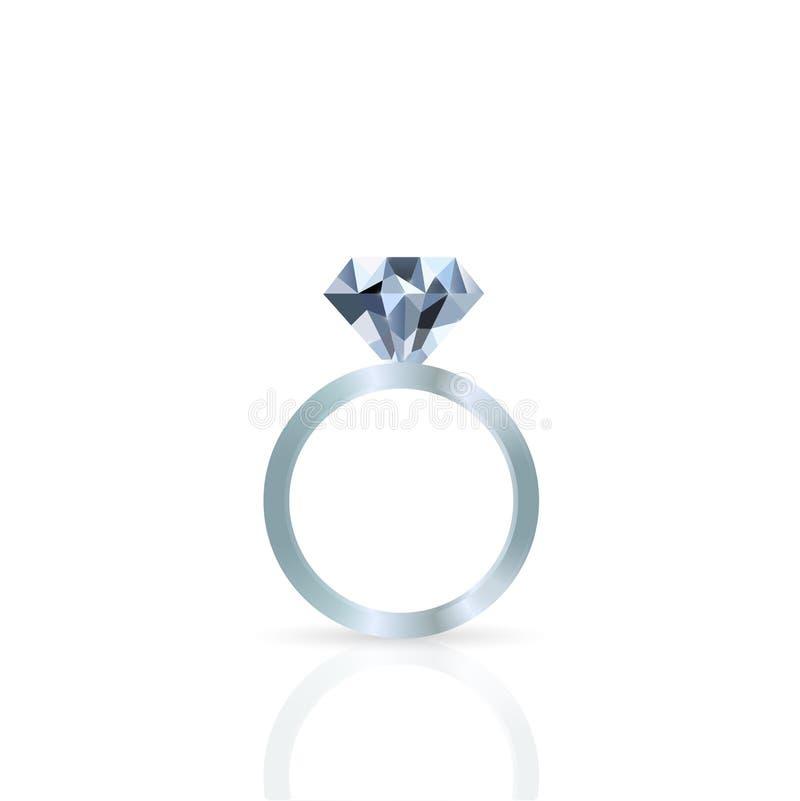 Diamond Ring Illustration. Illustration of a diamond ring against a white background vector illustration
