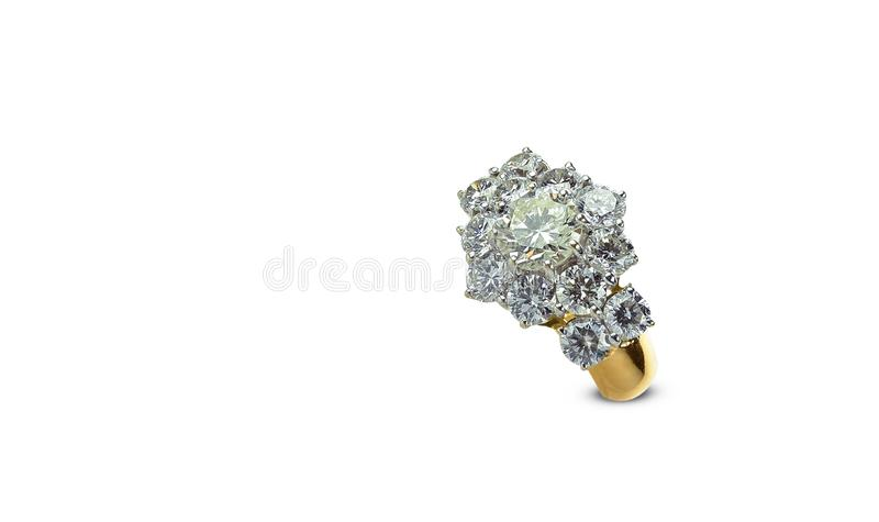 Diamond ring isolated on a white background stock image
