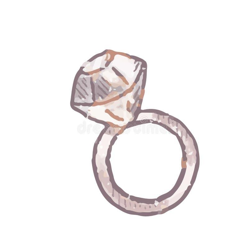 Diamond Ring Jewelry royaltyfri illustrationer