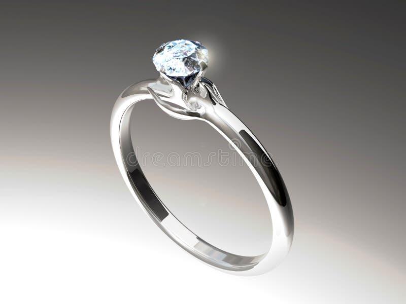 Diamond ring with modern design vector illustration