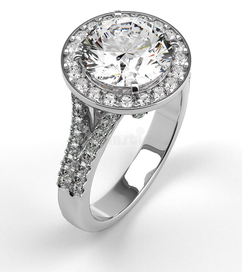 Diamond Ring on White royalty free stock images