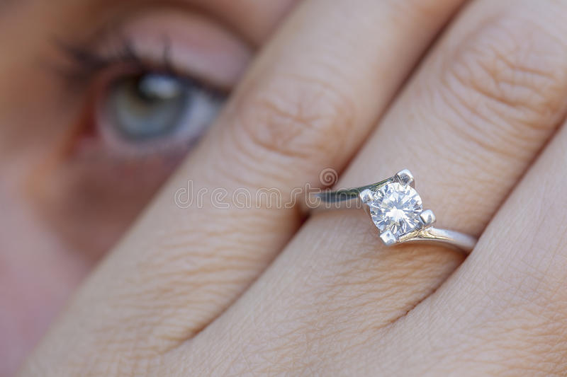 A diamond ring royalty free stock image