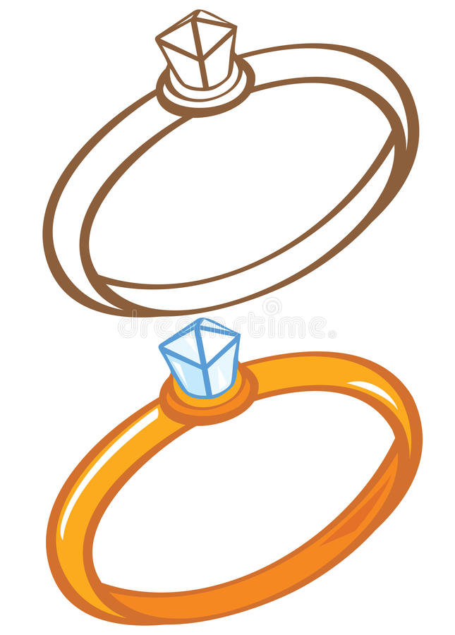 Download Diamond rings stock vector. Image of rings, outline, gems - 26528277