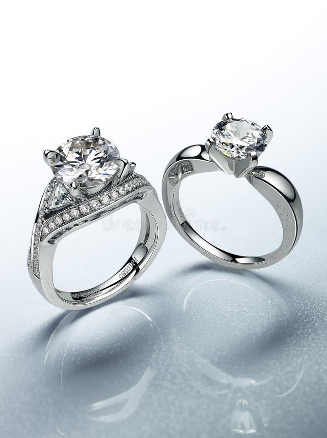 Diamond Rings lizenzfreie stockbilder