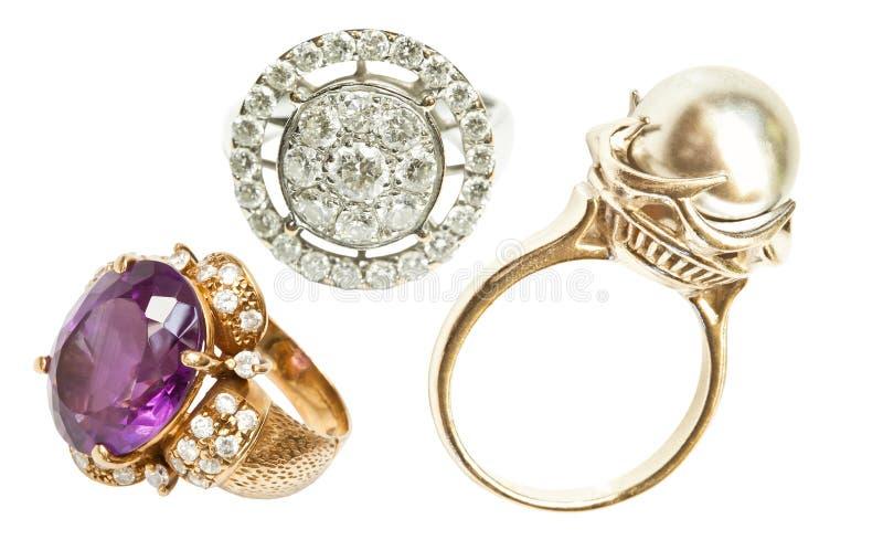 Diamond Rings lizenzfreie stockfotos