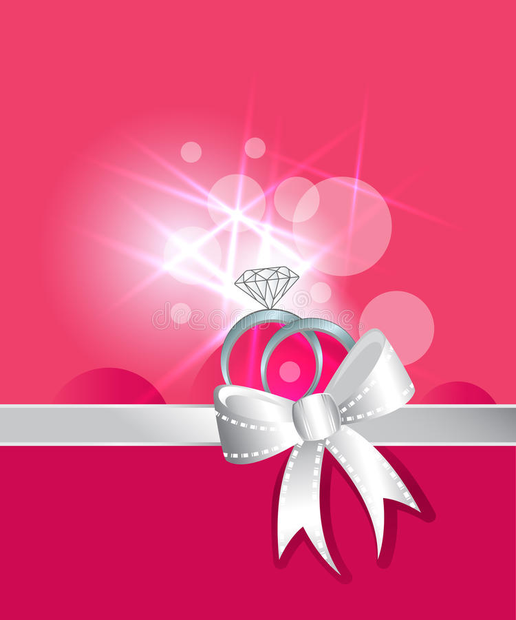 Diamond rings love stock illustration