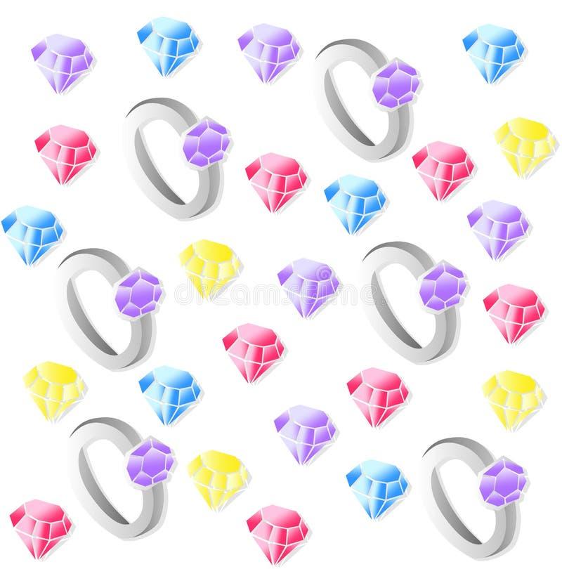 Diamond rings Vector pattern background illustration vector illustration