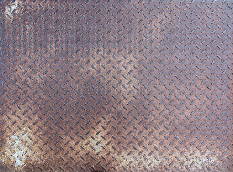 Diamond rusty steel plate - grunge texture stock photos