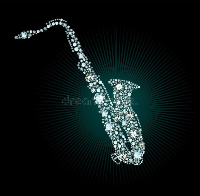Diamond Saxophone stock illustratie
