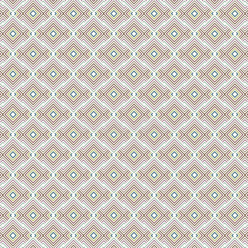 Diamond Seamless Pattern Background ethnique indigène coloré géométrique abstrait illustration libre de droits