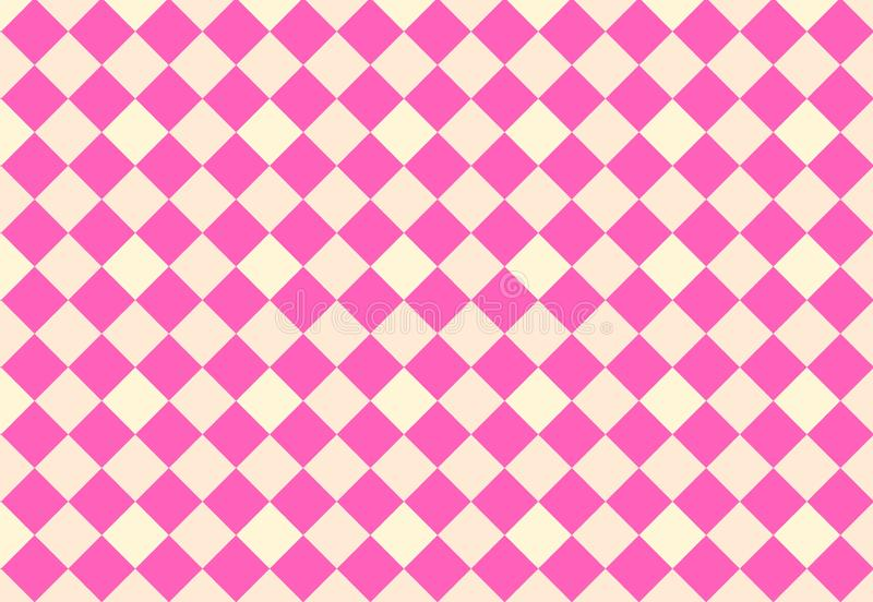 Diamond seamless pattern background. Illustration design. Pink, fabric, repeat, concept, wallpaper, backdrop, new, print, blanket, modern, geometric, graphic royalty free stock image