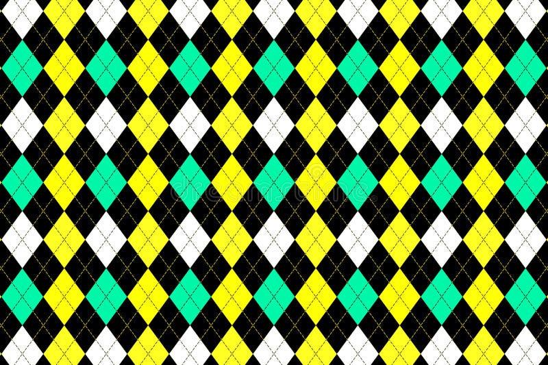 Diamond seamless pattern background. Illustration, triangle, yellow, green, fabric, plaid, wallpaper, backdrop, concept, fashion, shirt, skirt, repeat stock photos