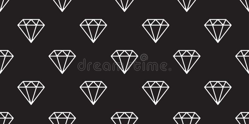 Diamond Seamless Pattern Vector Gem Isolated Jewelry Icon