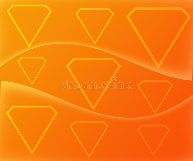 Diamond Shape Figures Abstract en fondo amarillo-naranja de la pendiente ilustración del vector