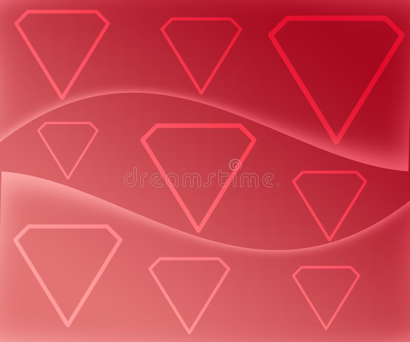 Diamond Shape Figures Abstract en fondo rojo de la pendiente libre illustration
