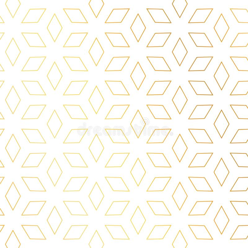 Diamond shape golden pattern vector background stock illustration
