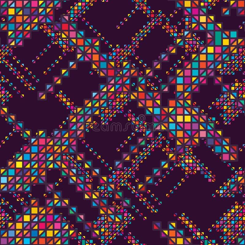 Diamond shape half seamless pattern stock illustration