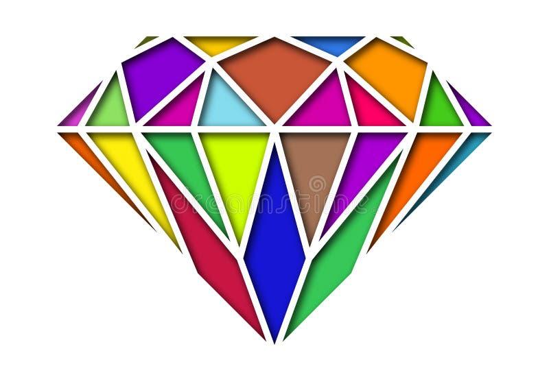 Diamond Shape Random Color stock illustratie
