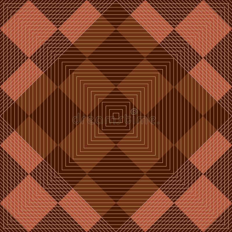 Diamond shape retro square seamless pattern stock illustration