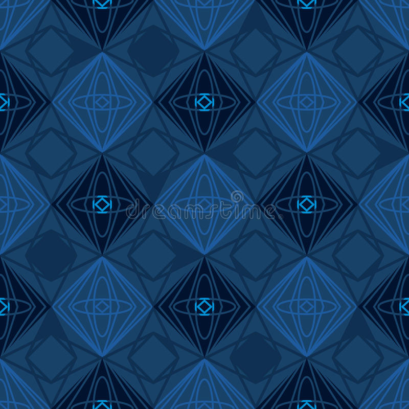 Diamond shape silhouette seamless pattern vector illustration