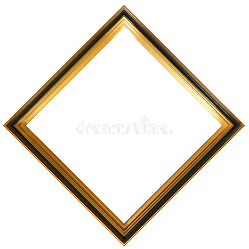 Diamond shaped antique picture frame royalty free illustration