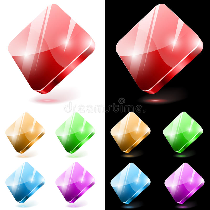 Download Diamond Shaped Glass Buttons Stock Vector - Image: 25851968