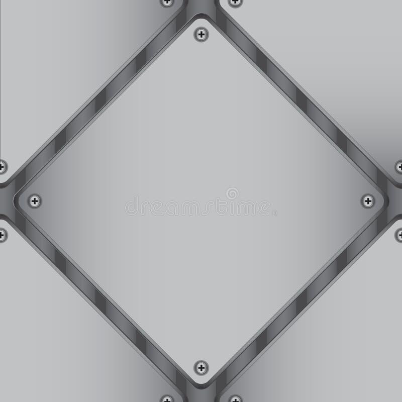 Diamond-shaped metal sheet royalty free stock photography