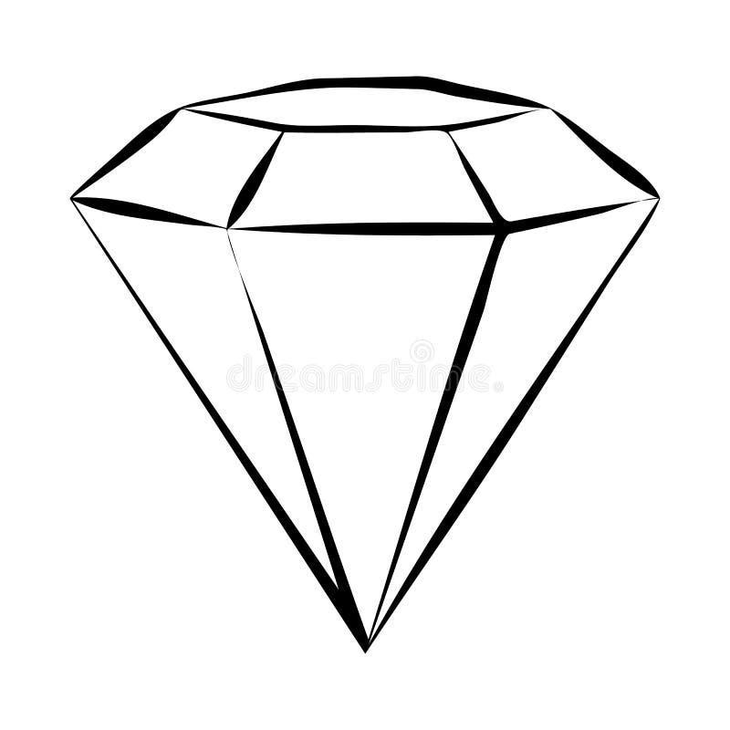 Diamond Skech royalty-vrije illustratie
