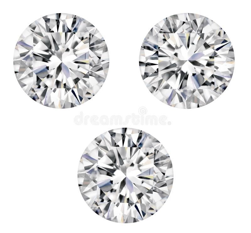 DIAMOND SOLID ELEMENT WHITE BACKGROUND royalty free stock photo