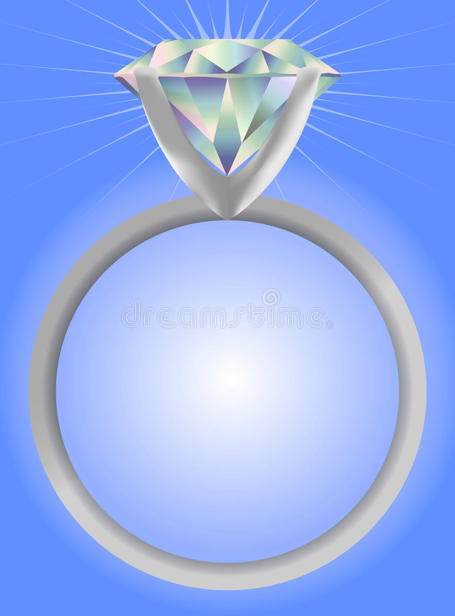 Diamond Solitaire Ring/EPS Stock Image
