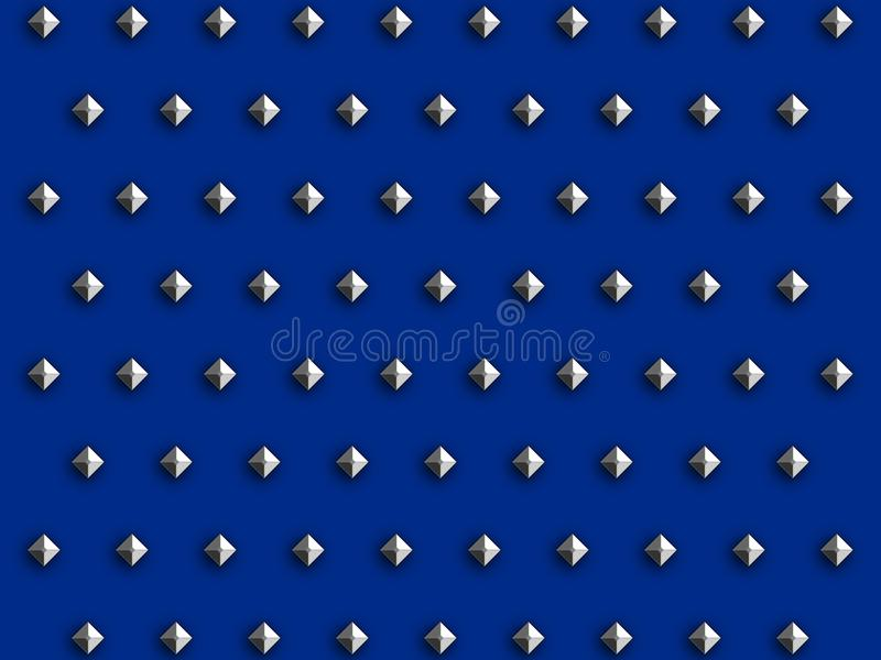 Download Diamond Studs on Blue stock vector. Illustration of decoration - 23037266