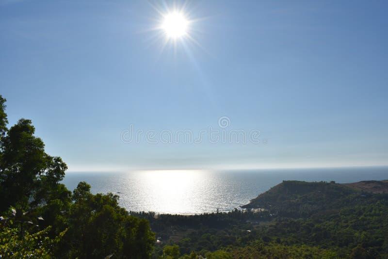 Diamond Sunset sur la plage de l'OM image libre de droits
