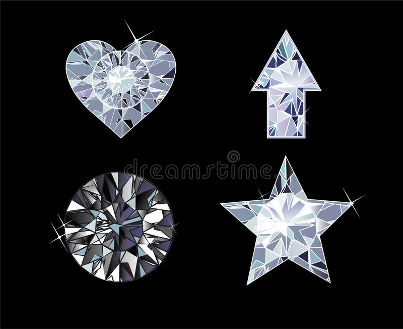 Diamond Symbols illustration libre de droits
