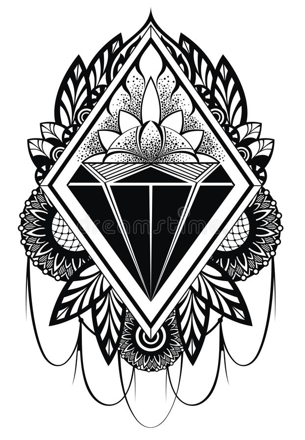 Diamond Tattoo Stock Vector Image 61806353