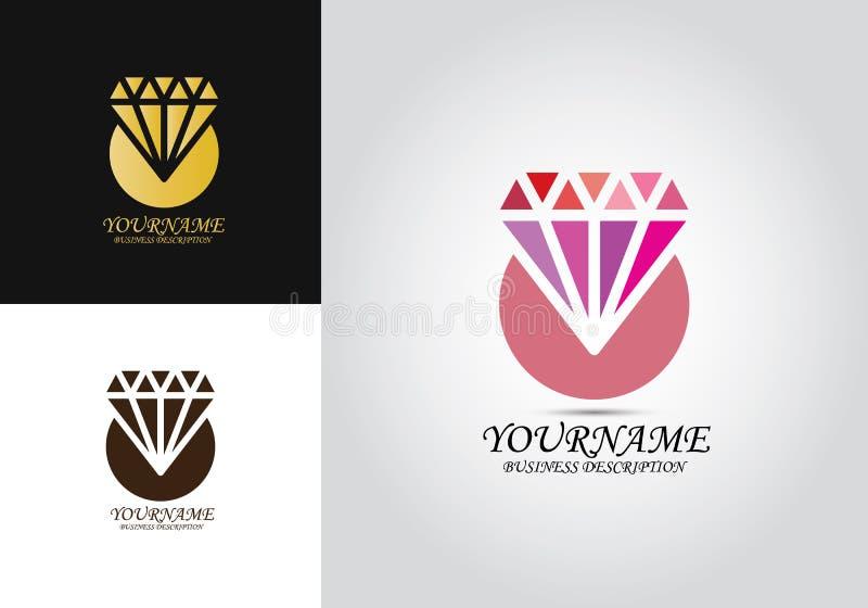 Diamond Template Design Logo vector illustratie