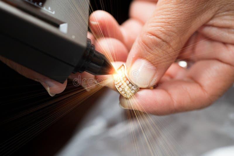 Diamond Tester Gemstone Selector Gem-LEIDENE Indicator stock afbeeldingen