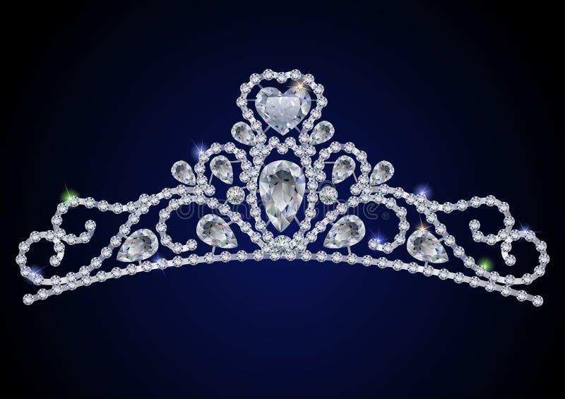 Diamond tiara vector illustration