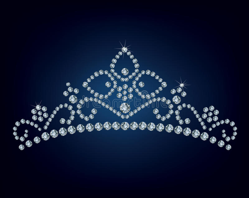 Diamond tiara stock illustration
