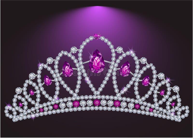 Diamond tiara royalty free illustration