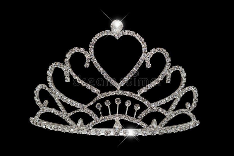 Diamond Tiara. A diamond tiara isolated on black royalty free stock photography