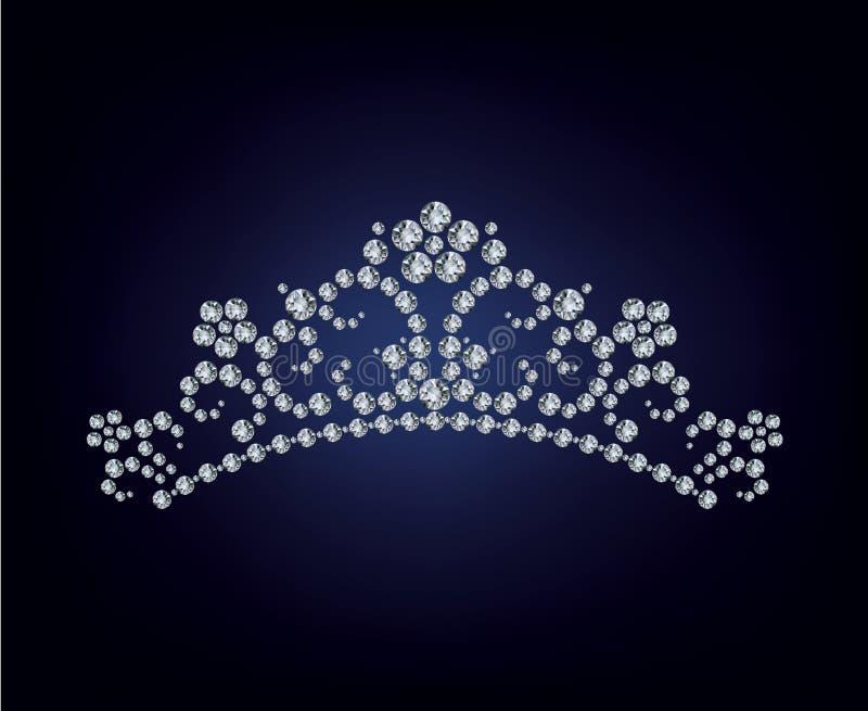 Diamond tiara illustration royalty free illustration