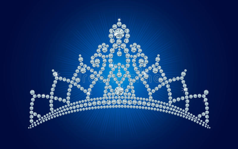 Diamond tiara / vector illustrations vector illustration