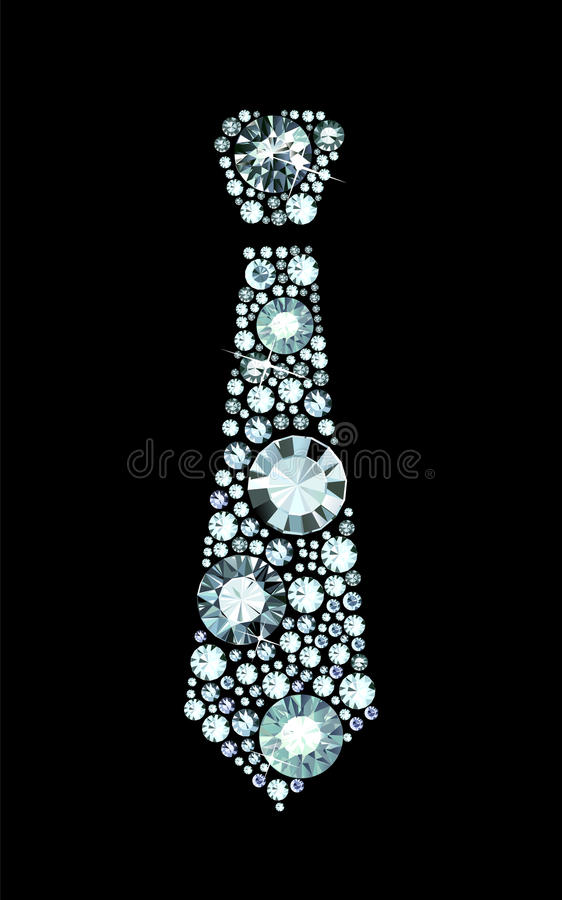 Diamond Tie illustration libre de droits