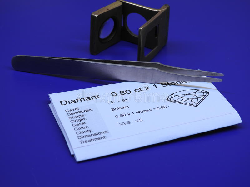 Diamond tools. Tools used in the Diamond business royalty free stock image