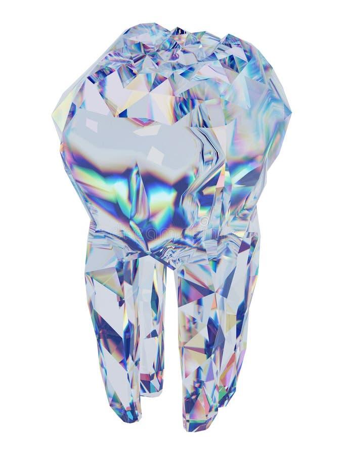 Diamond Tooth lizenzfreie abbildung