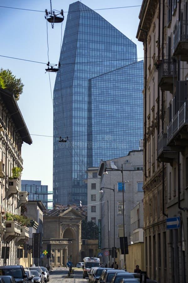 Diamond Tower, Milan, Italy stock photography