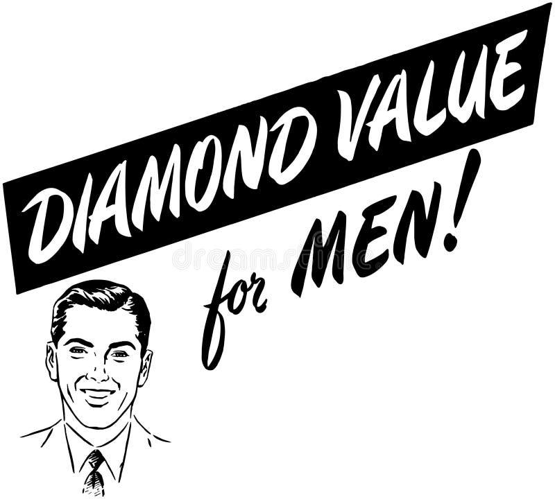 Diamond Value For Men royalty illustrazione gratis