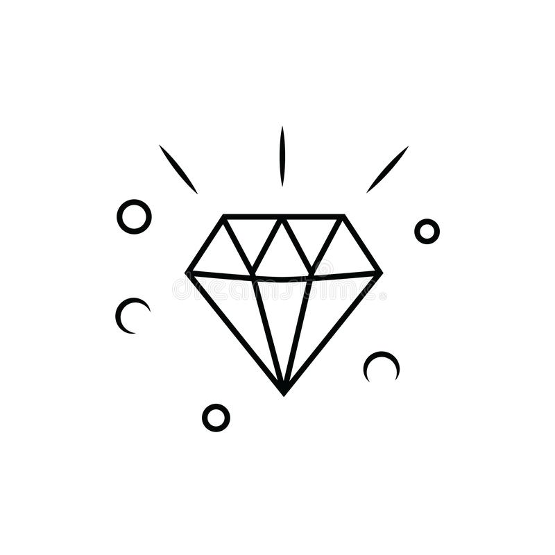 Diamond vector icon. On white background vector illustration